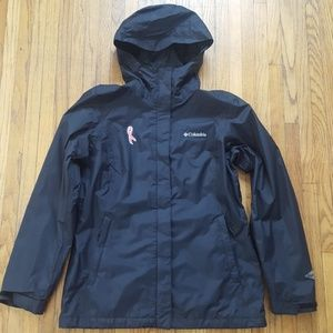 Columbia Breast Cancer Ribbon Rain Jacket Small